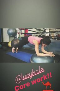 Lucy Hale - Workout video