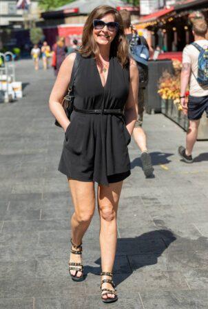Lucy Horobin - In black dress seen leaving Global Studios in London