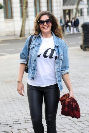 Lucy Horobin - Spotted at the Global Radio Studios in London