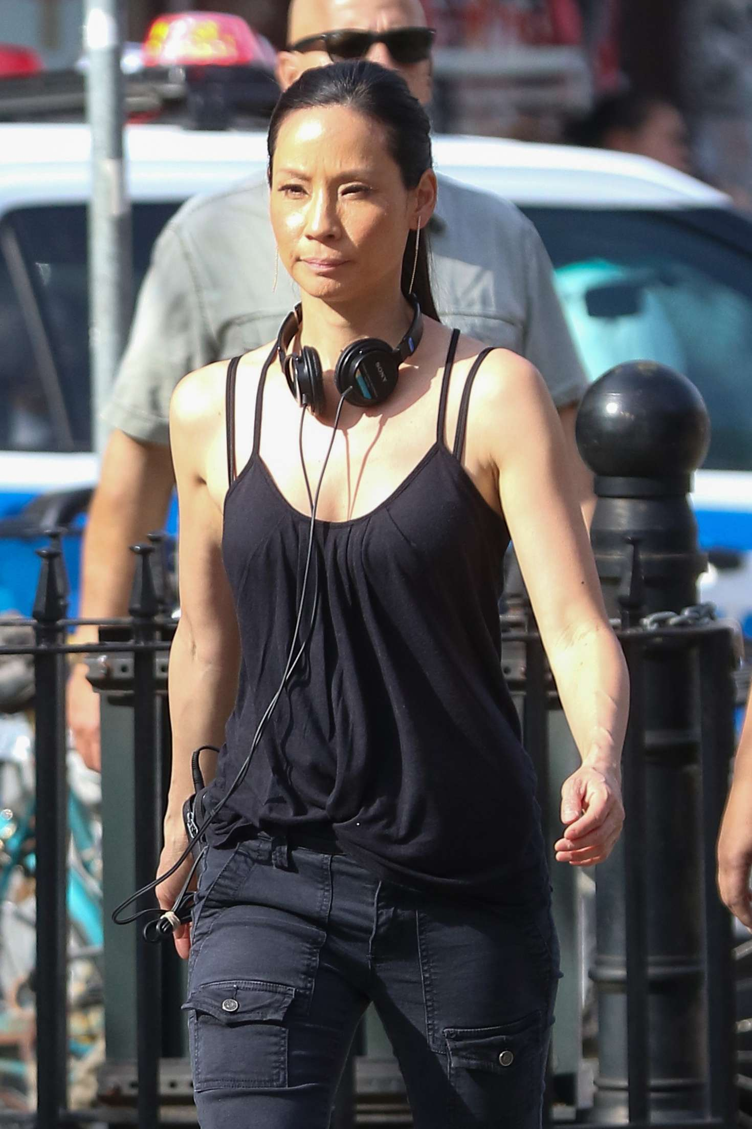 Lucy Liu Heads To The Set Of Elementary In West Village
