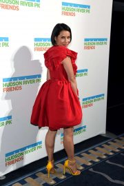 Lucy Liu - In red dress at Hudson River Park Annual Gala in NYC