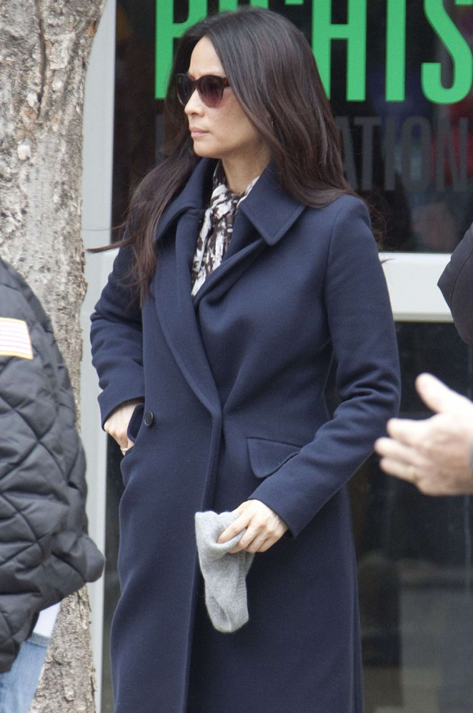Lucy Liu on the set of 'Elementary' in NYC