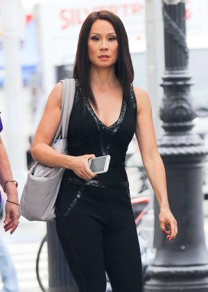 Lucy Liu - Out in The West Village