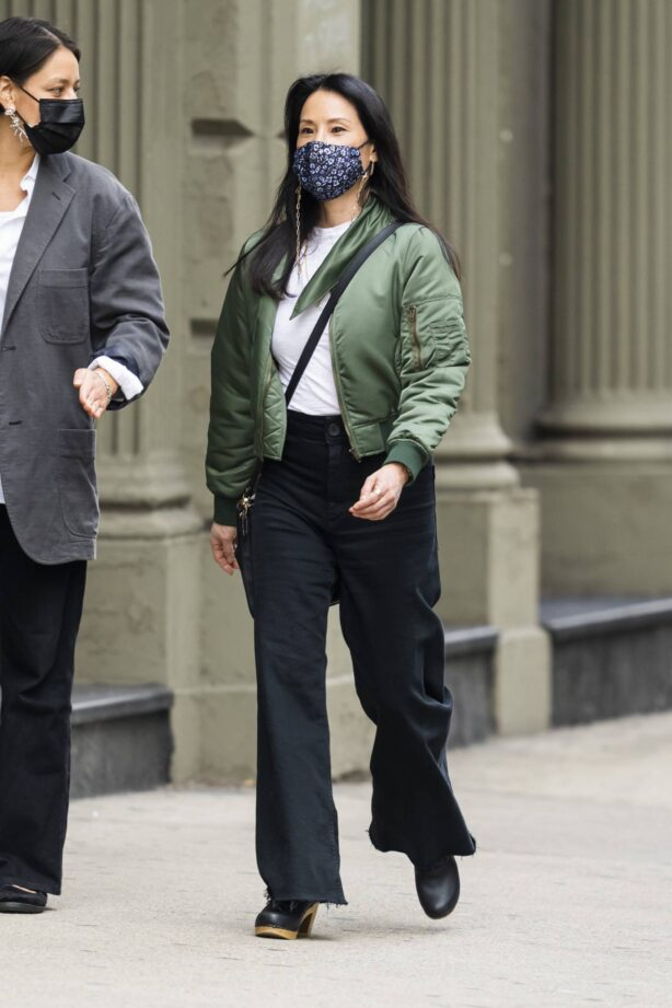 Lucy Liu - Steps out with a friend in New York City