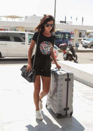 Lucy Mecklenburgh and boyfriend Ryan Thomas at Airport in Greece