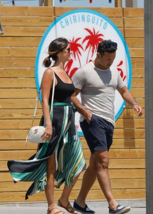 Lucy Mecklenburgh and Ryan Thomas on holiday in Spain