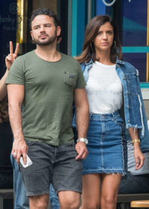 Lucy Mecklenburgh and Ryan Thomas out for a dinner in Melbourne