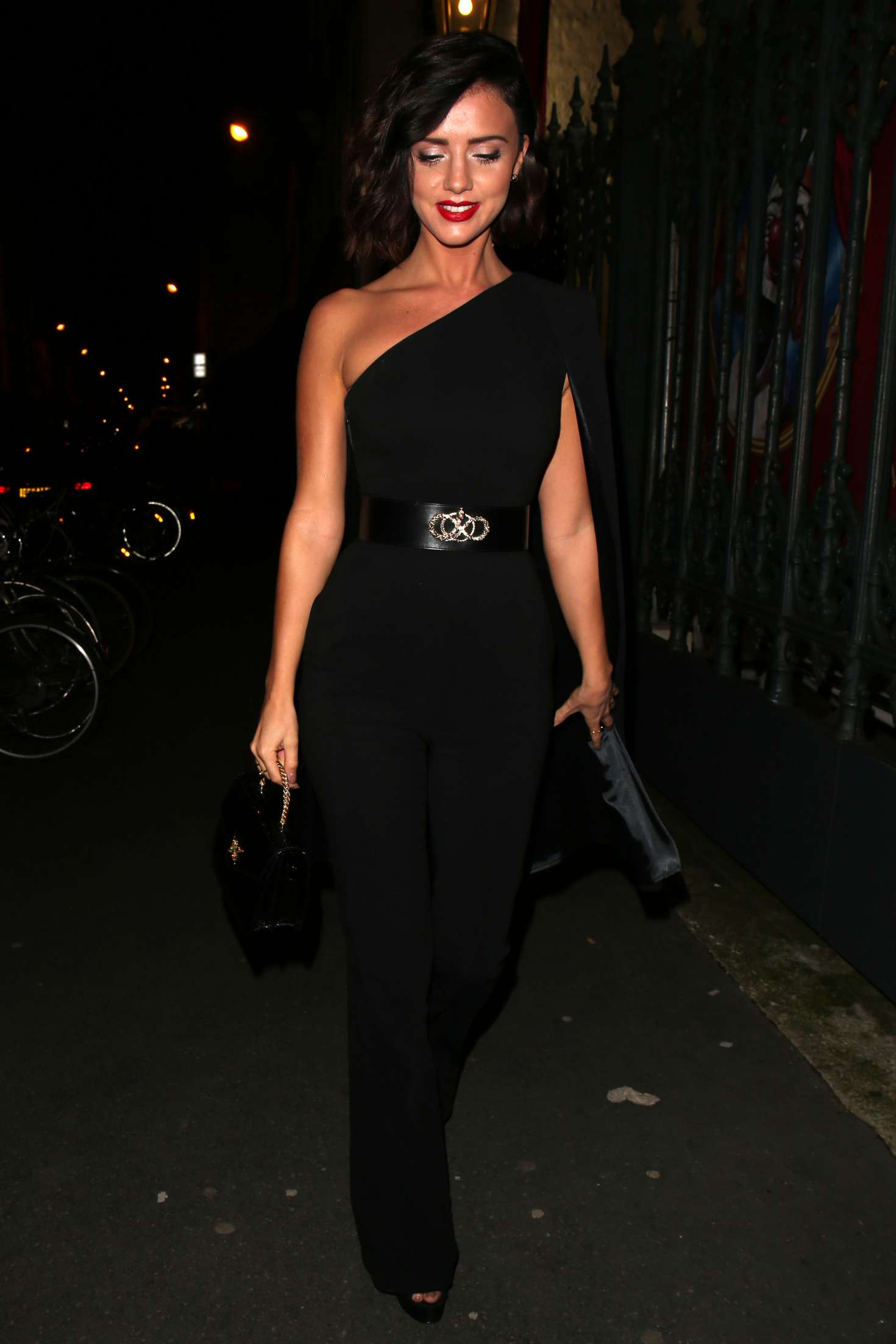 Lucy Mecklenburgh 2018 : Lucy Mecklenburgh: Arriving at Gun Pei Fashion Show 2018 -04