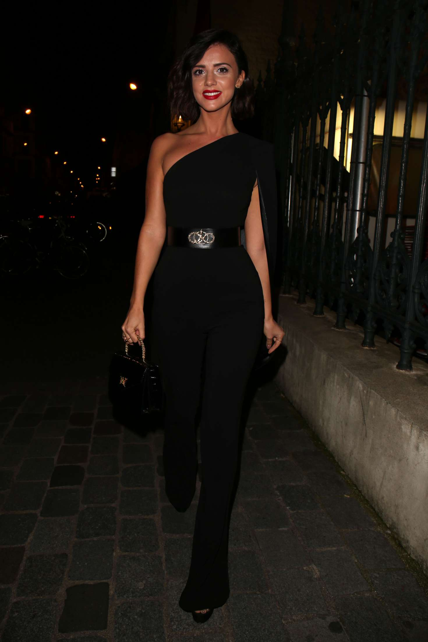 Lucy Mecklenburgh 2018 : Lucy Mecklenburgh: Arriving at Gun Pei Fashion Show 2018 -05