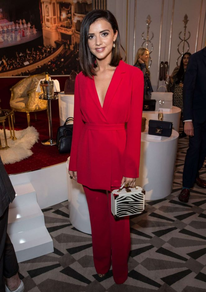 Lucy Mecklenburgh - Aspinal of London Presentation at 2017 LFW in London
