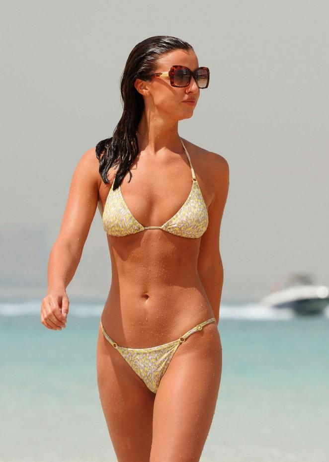 Lucy Mecklenburgh – Bikini Candids in Dubai