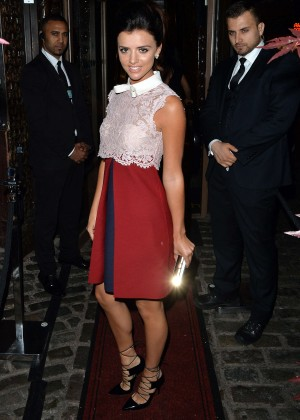 Lucy Mecklenburgh - Celebrating her birthday at Gilgamesh in London