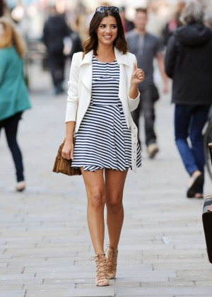 Lucy Mecklenburgh in Mini Dress at Clothing Launch in NewCastle