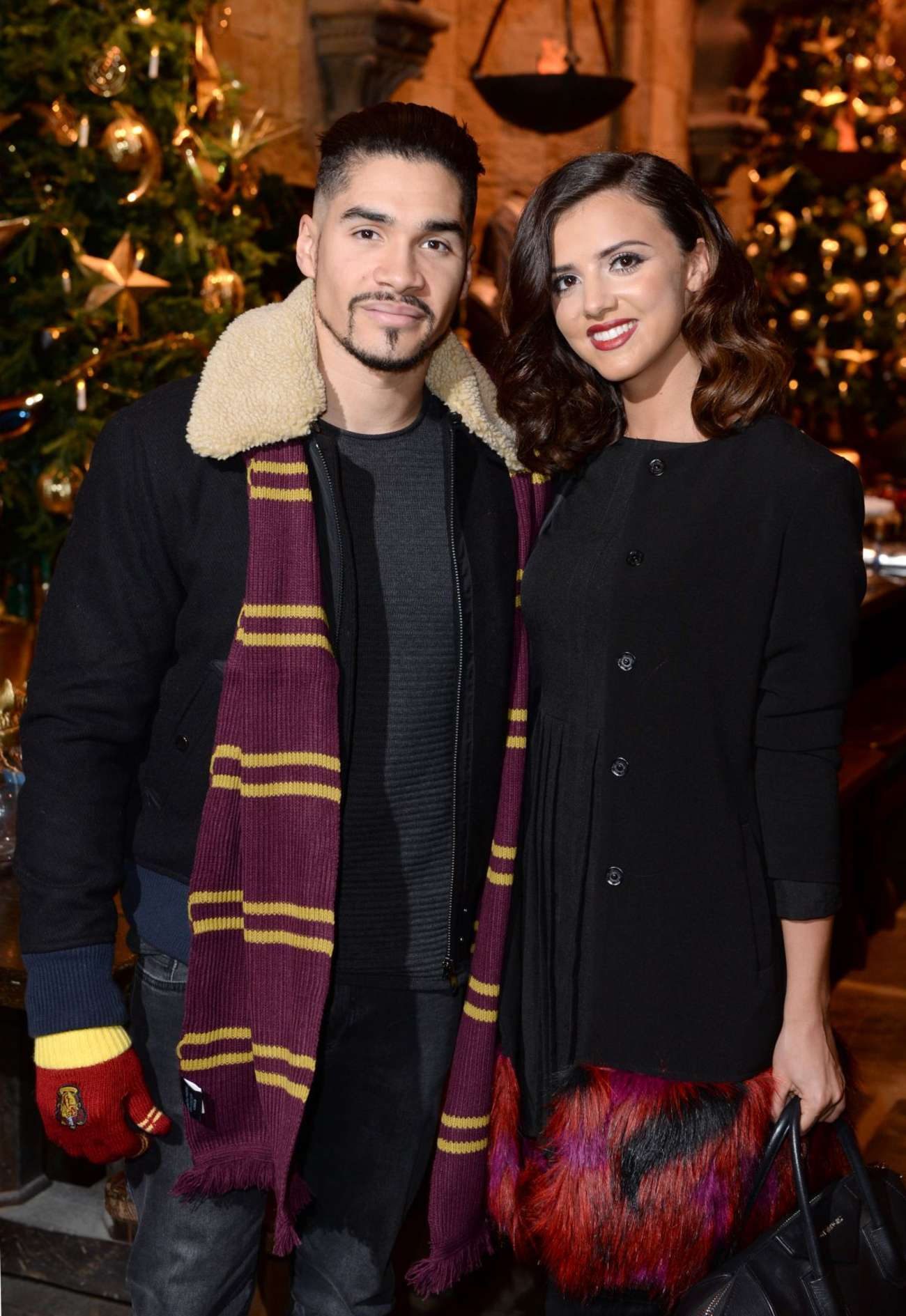 Lucy Mecklenburgh 2015 : Lucy Mecklenburgh: Hogwarts in The Snow Launch -01