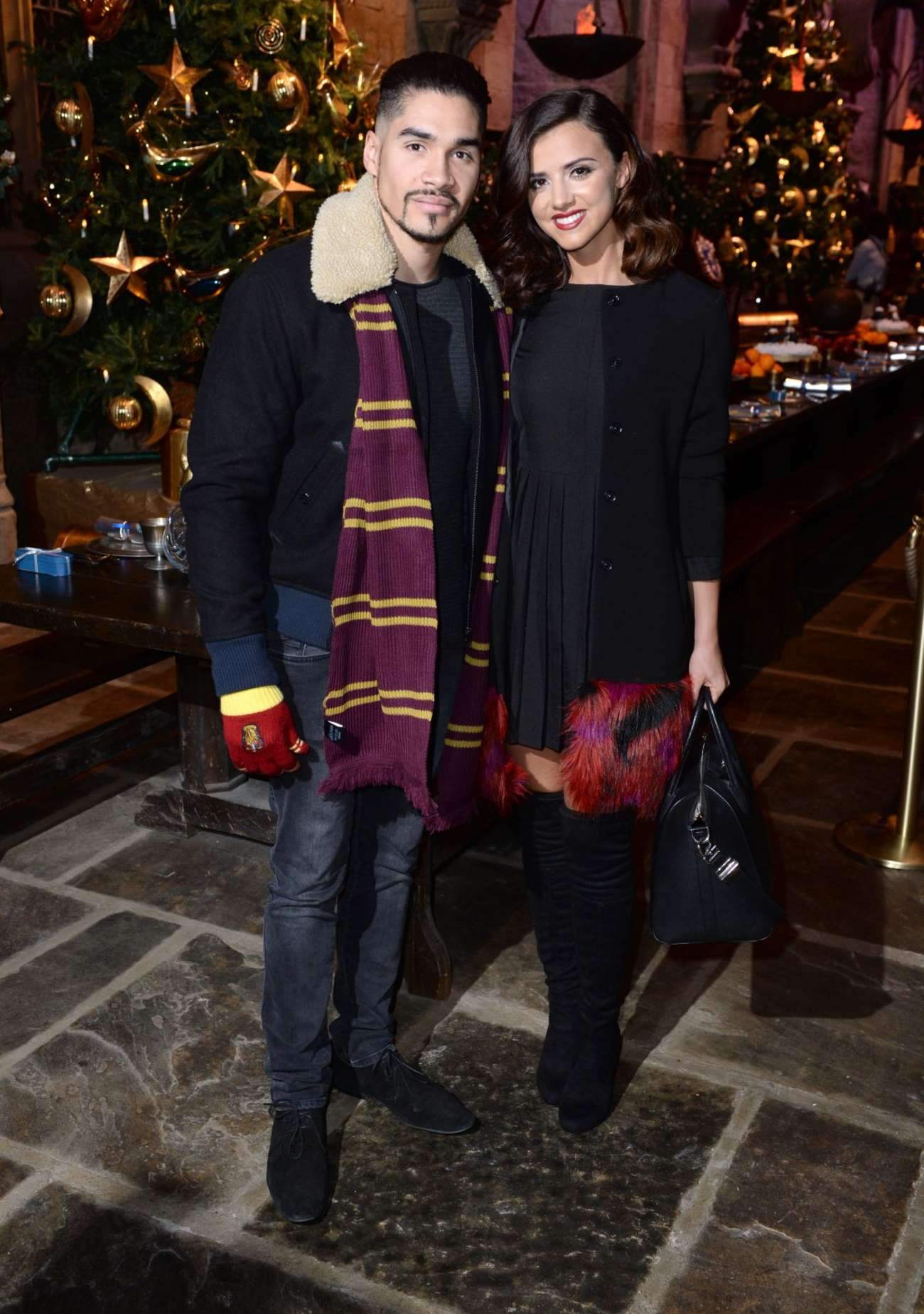 Lucy Mecklenburgh 2015 : Lucy Mecklenburgh: Hogwarts in The Snow Launch -02