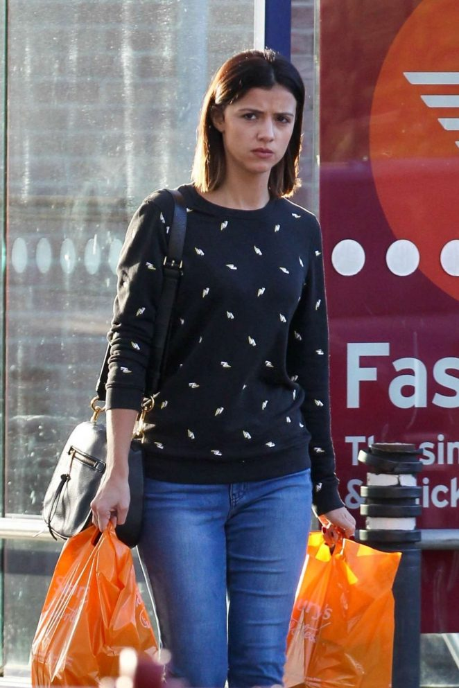 Lucy Mecklenburgh in Jeans Shopping at a Supermarket in Essex