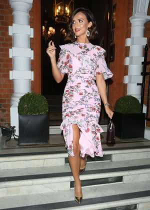 Lucy Mecklenburgh in Purple Dress - Celebrating her 27th birthday in London