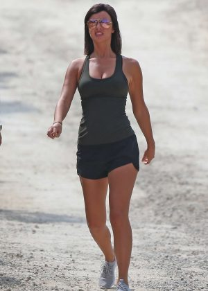 Lucy Mecklenburgh in Shorts with Ryan Thomas out in Ibiza