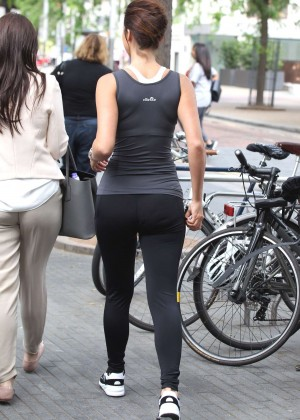 Lucy Mecklenburgh in Tights out in London