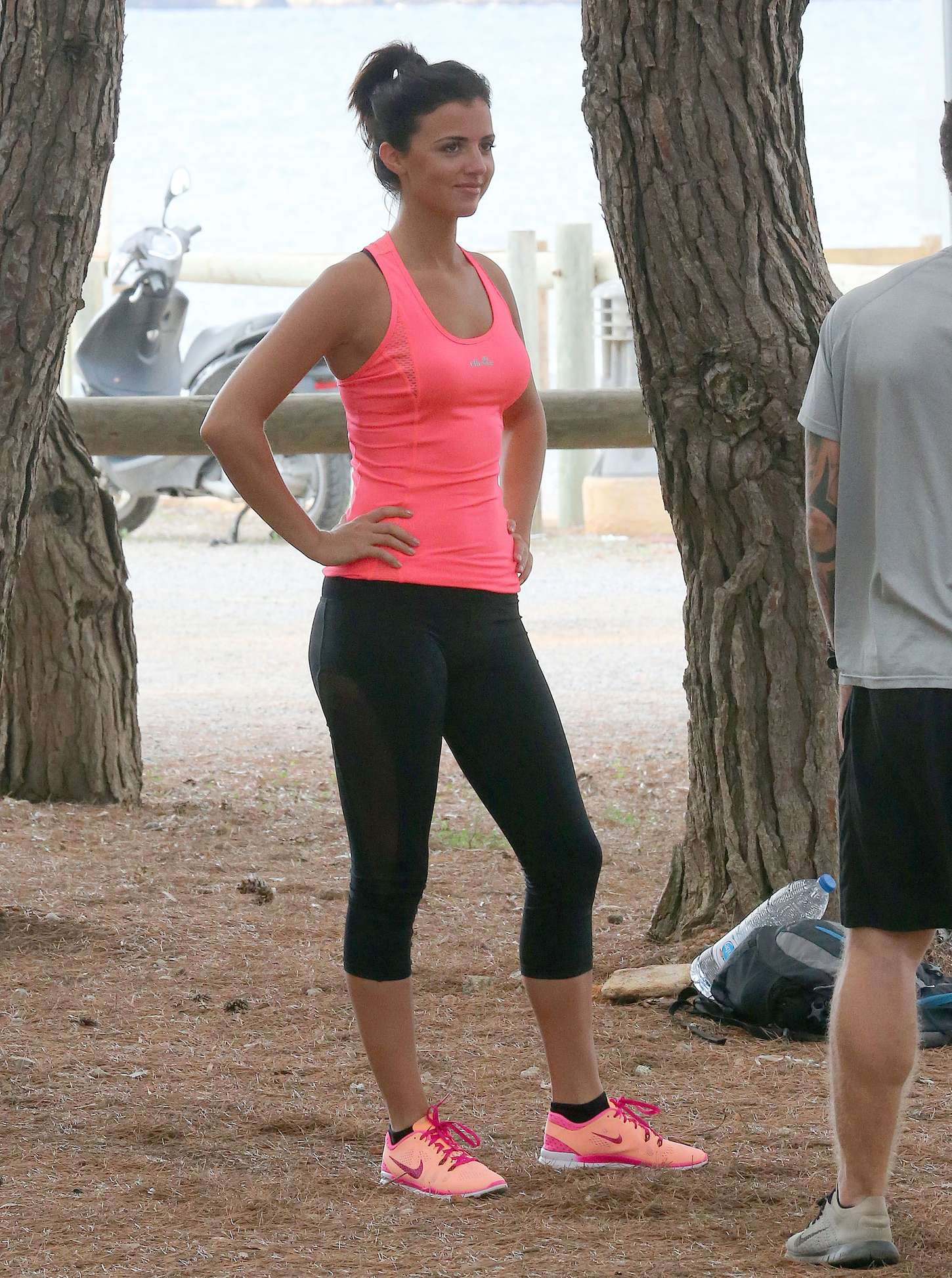 Lucy Mecklenburgh 2015 : Lucy Mecklenburgh in Tights Workout -02