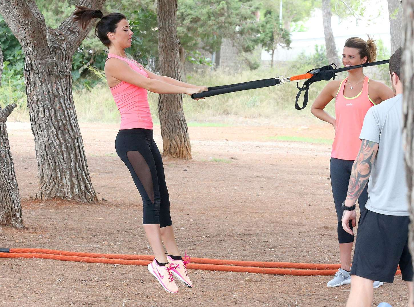 Lucy Mecklenburgh 2015 : Lucy Mecklenburgh in Tights Workout -07