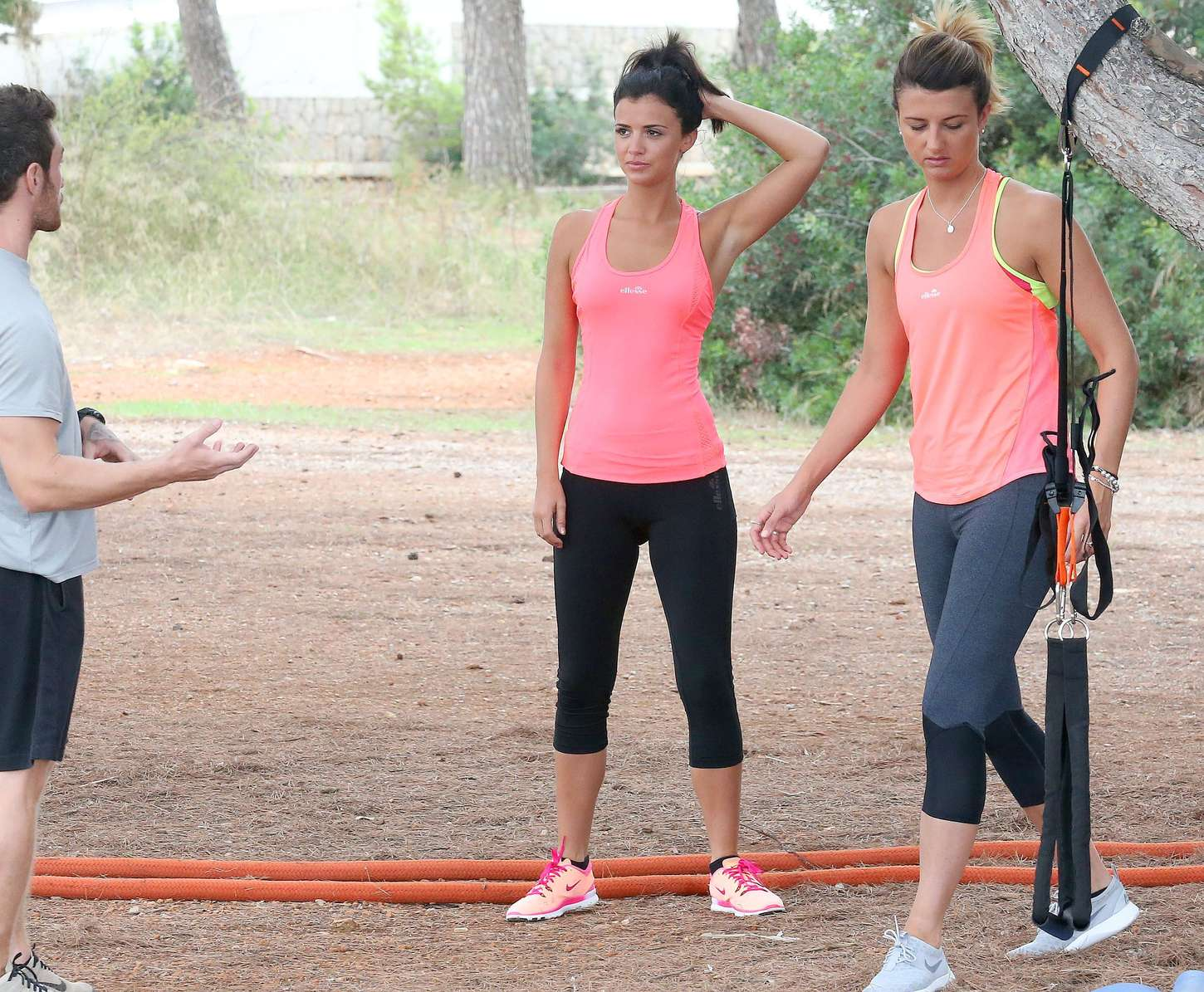 Lucy Mecklenburgh 2015 : Lucy Mecklenburgh in Tights Workout -16