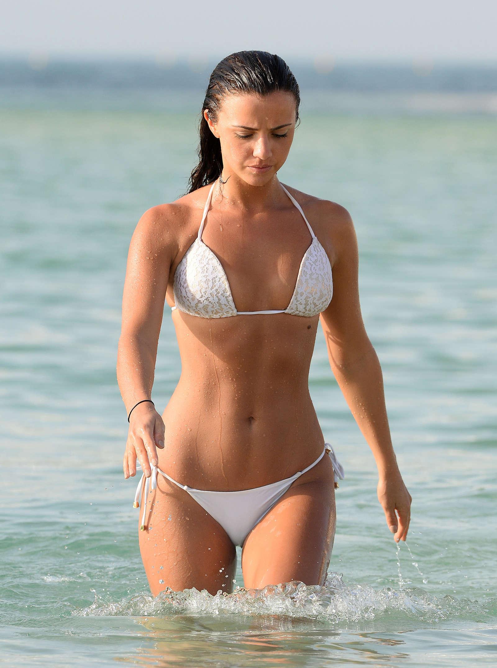 Lucy Mecklenburgh In White Bikini 2016 06 Gotceleb