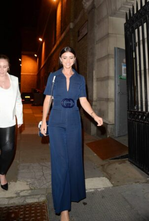 Lucy Mecklenburgh - leaving for the British Takeaway Awards at Old Billingsgate in London