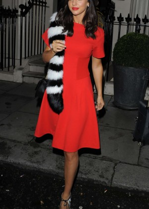 Lucy Mecklenburgh - Leaving The Haymarket Hotel in London