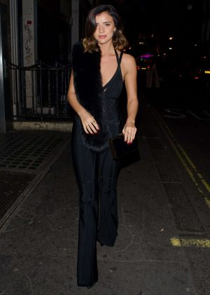 Lucy Mecklenburgh night out in London