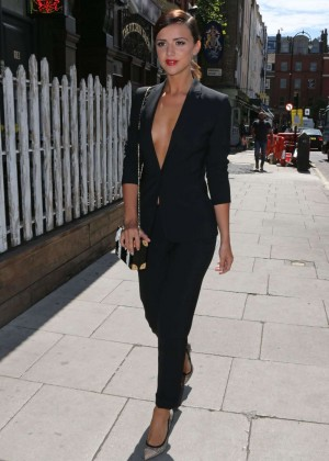 Lucy Mecklenburgh in Black Suit Out in London