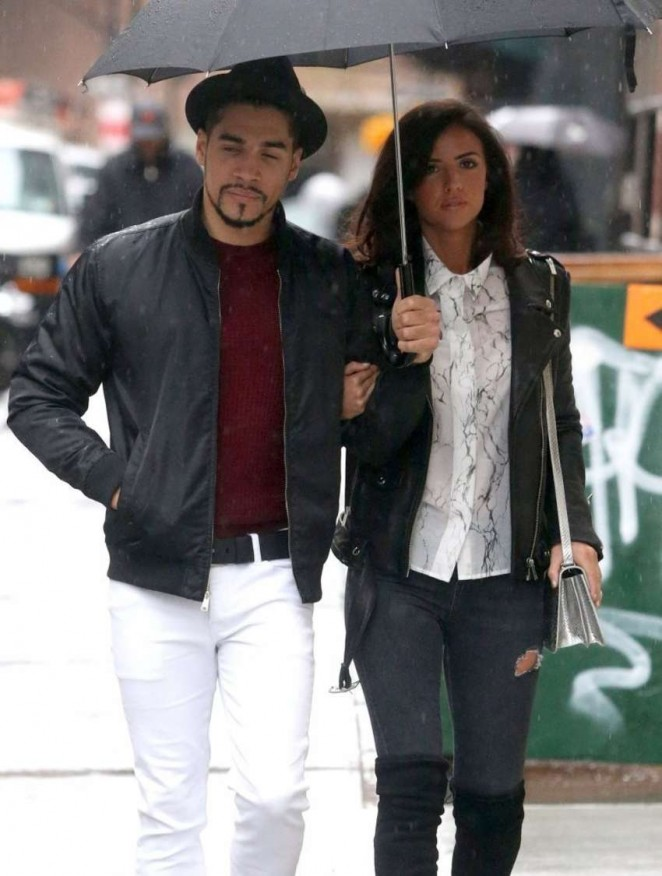 Lucy Mecklenburgh out in NYC