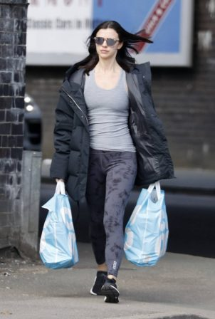 Lucy Mecklenburgh - Shopping at Co-op in Essex