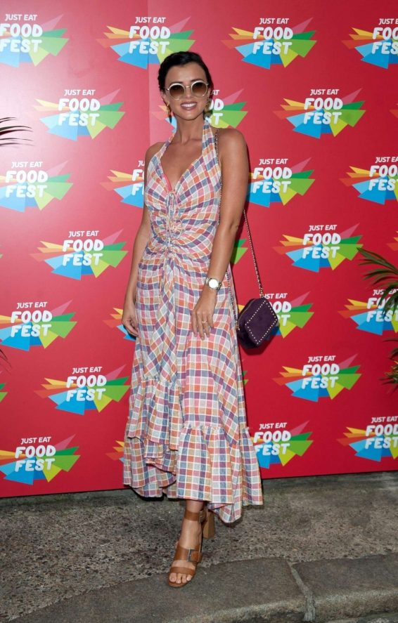 Lucy Mecklenburgh - VIP launch of Just Eat Food Fest Taste Adventure in London
