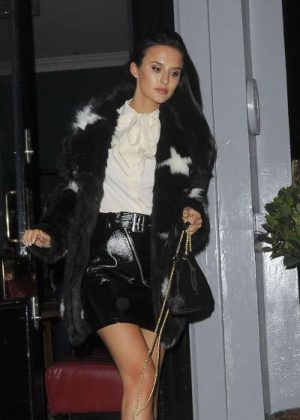 Lucy Watson - Leaves The Phene restaurant in Chelsea