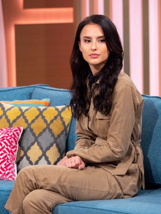 Lucy Watson om 'This Morning' TV Show in London