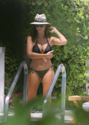 Ludivine Kadri Sagna in Black Bikini in Miami