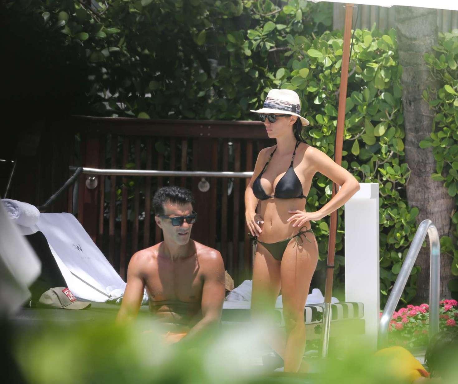 Ludivine Kadri Sagna in Black Bikini in Miami