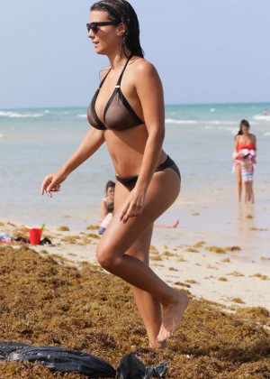 Ludivine Sagna - Wearing Bikini at Miami Beach