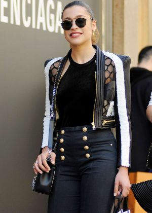 Ludovica Frasca out and about in Milan