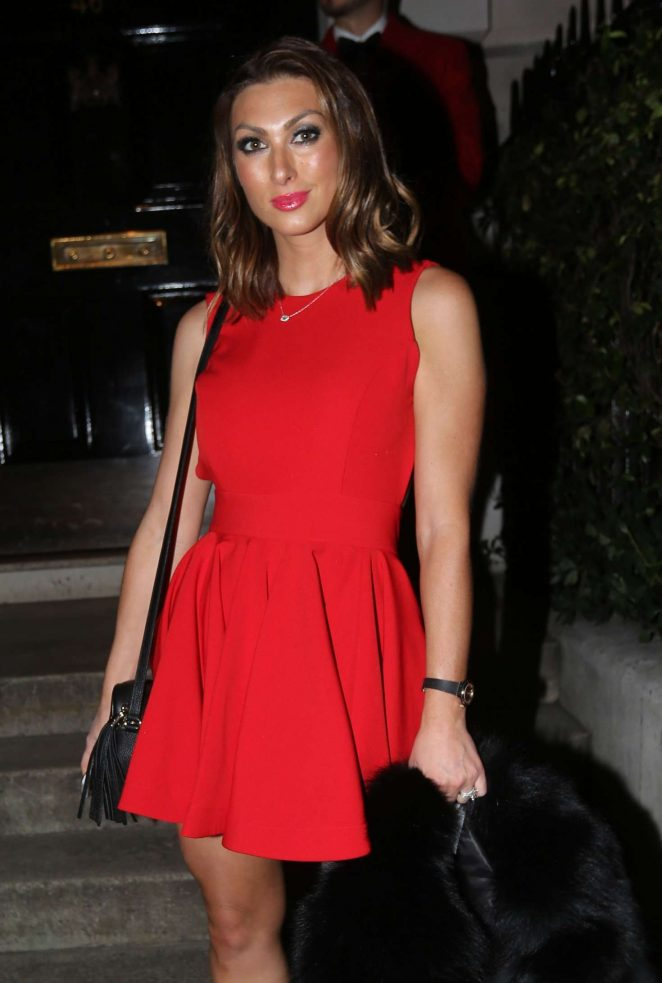 Luisa Zissman in Red Dress – Annabels Club in London