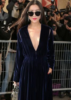 Lulu Tan - Arrivals at Christian Dior Fashion Show SS 2016 in Paris