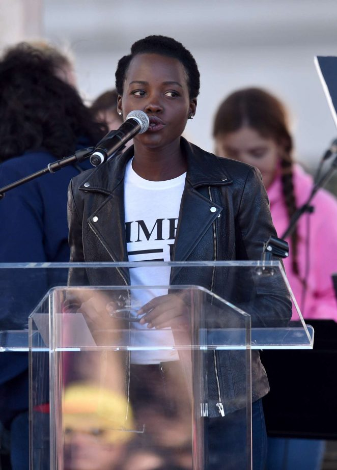 Lupita Nyong'o - 2018 Women's March in Los Angeles
