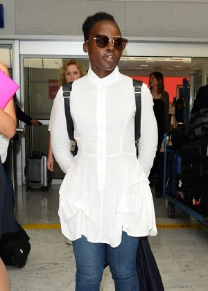 Lupita Nyong'o Arrives at Nice Airport in Cannes