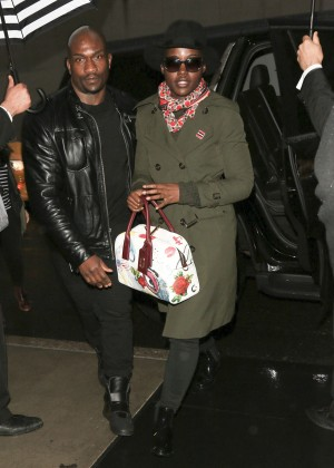 Lupita Nyong'o arriving to hotel in New York