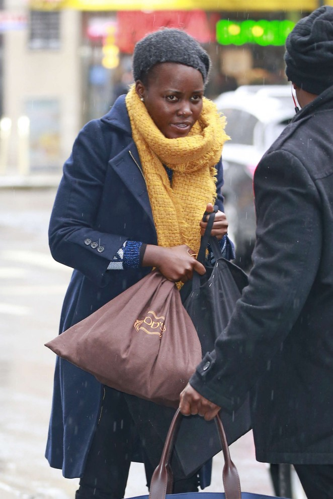 Lupita Nyong'o at John Golden Theatre in New York