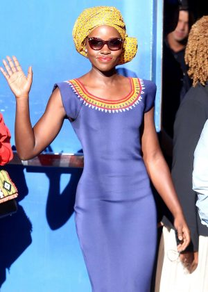 Lupita Nyong'o in Tight Dress Out in New York