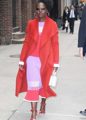 Lupita Nyong'o - Outside The Late Show with Stephen Colbert in New York City