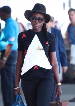 Lupita Nyongo - JFK airport in NYC