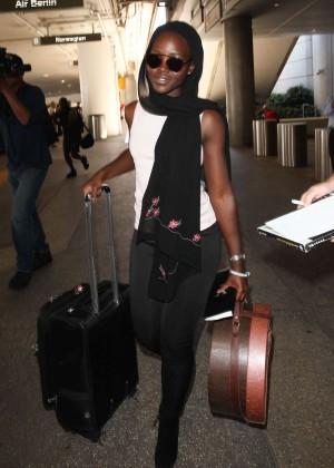 Lupita Nyongo - LAX airport in LA
